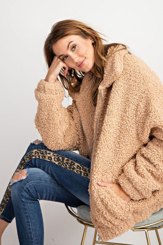 Warm and Cozy Sherpa Faux Fur Teddy Jacket