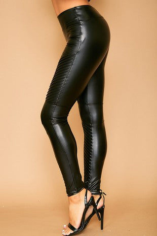 Skinny Moto Faux Leather Legging Pants