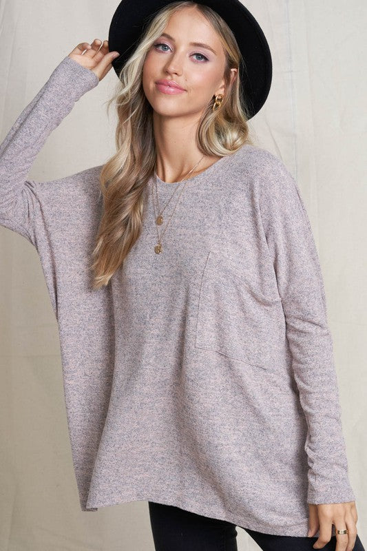 Casual Magic Oversized Heather Tunic
