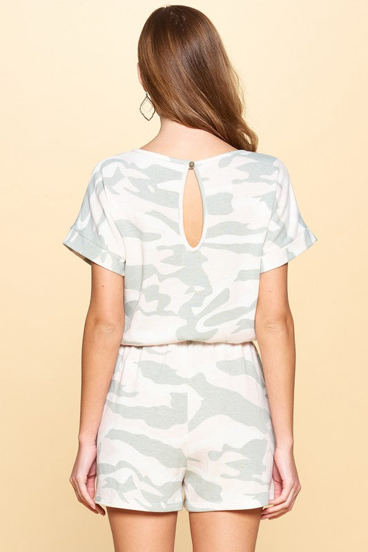 Roam Free Camo Romper with Pockets