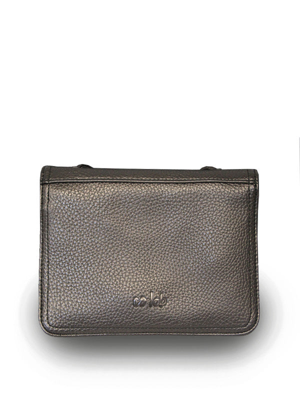 Vegan Leather Crossbody Wallet Purse Bronze