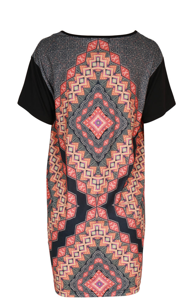 Kaleidoscope T-Shirt Tunic Dress
