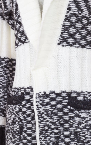 Colorado Cream/Black Combo Wool Cardigan