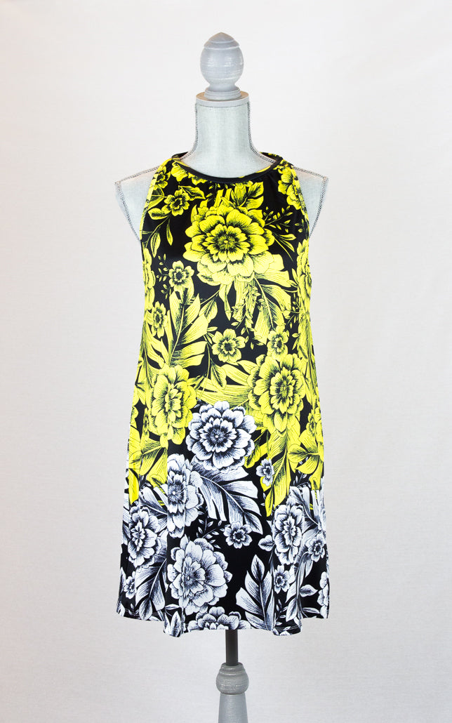 Yellow Garden Retro Floral Dress