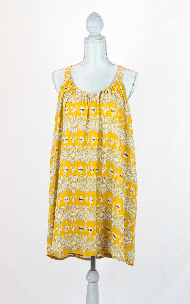 Goldenrod Mustard Yellow Mini Dress