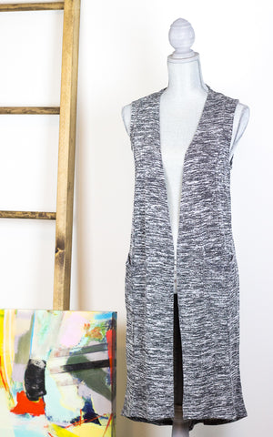Lightweight Long Vest (Gilet) Knit Cardigan