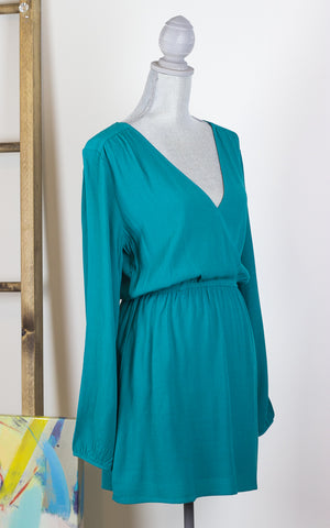 Surplice Crossover Front Tunic Dress