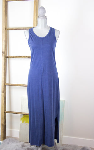 Blue Skies Cotton Maxi Dress