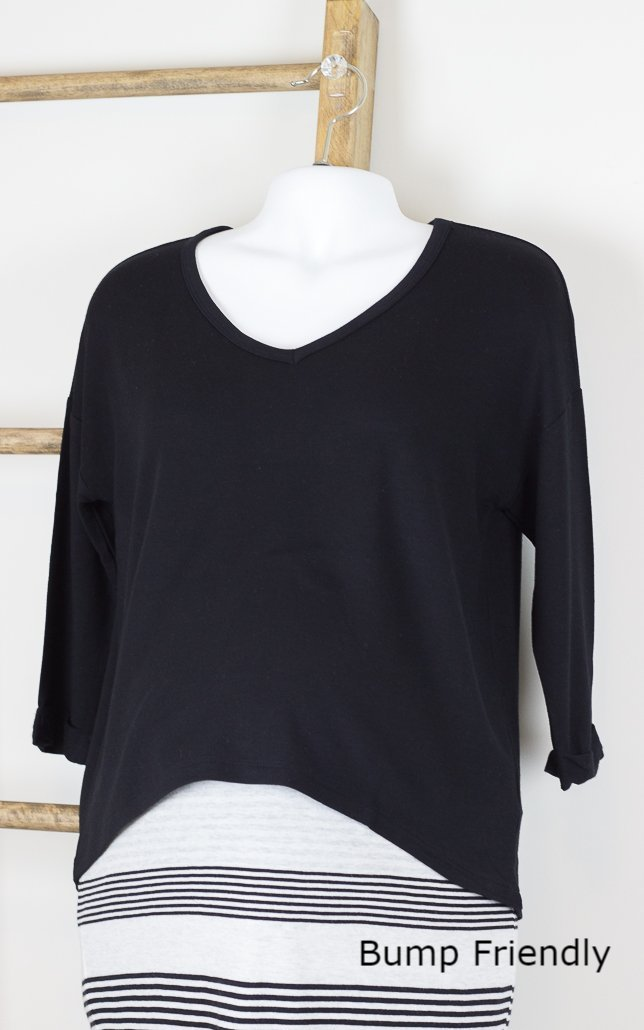 Live with Grace V-Neck 3/4 Length Top