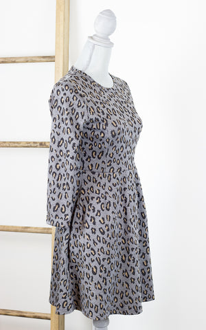 Claudine Leopard Print Dress with Pockets
