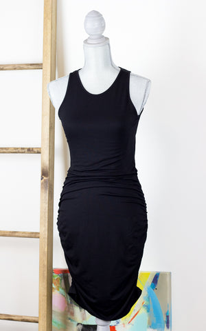 Bodycon Tank Midi Dress with Ruching