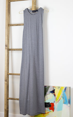 Crossover Back Maxi Dress Grey