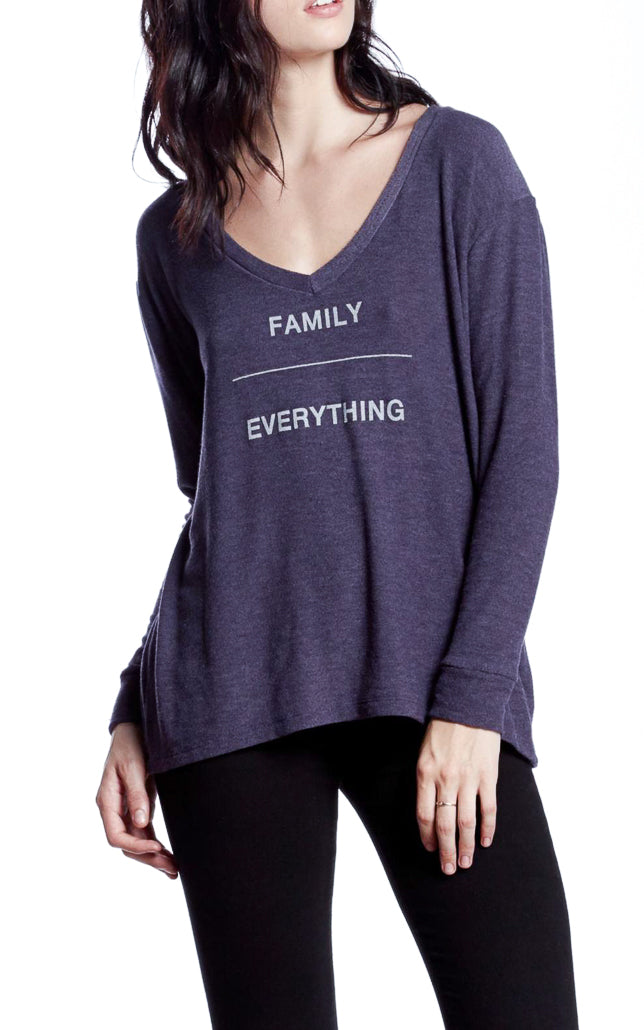 Family Over Everything Crewneck Pullover Sweater