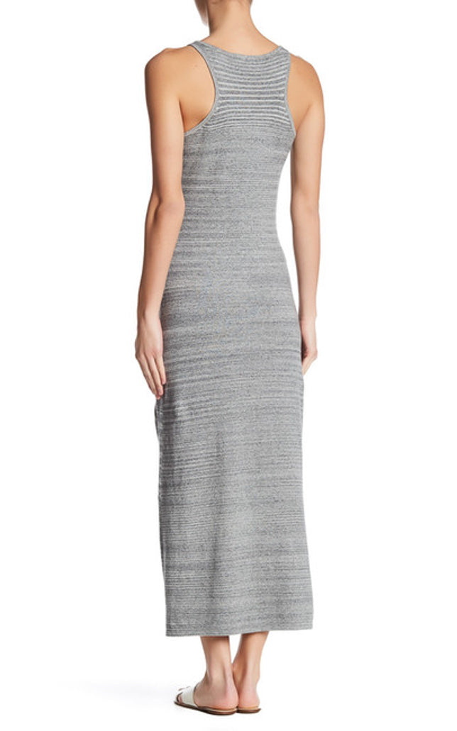 Trish Knit Space Dye Racerback Maxi Dress with Side Slit