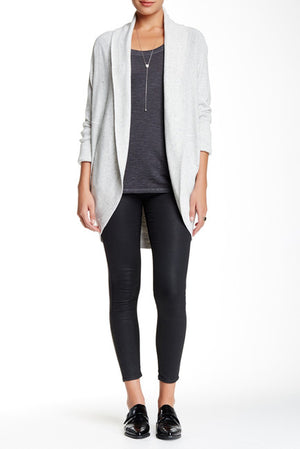 Pebble Grey Mix Cocoon Knit Cardigan Women's