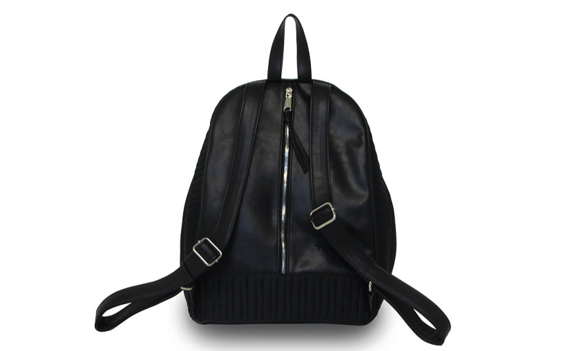 Vegan Leather/Neoprene Moto Backpack