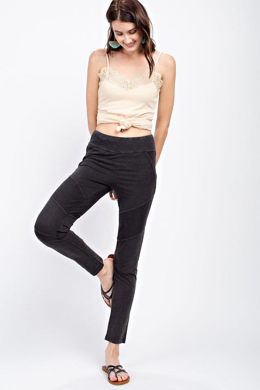 Ultra Soft and Light Washed Moto Jeggings