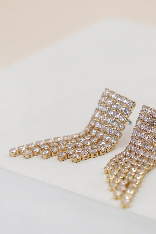 Bring the Glitz Cubic Zirconia Drop Earrings