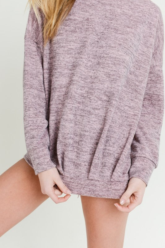 Pretty Please Pleated Oversized Sweatshirt