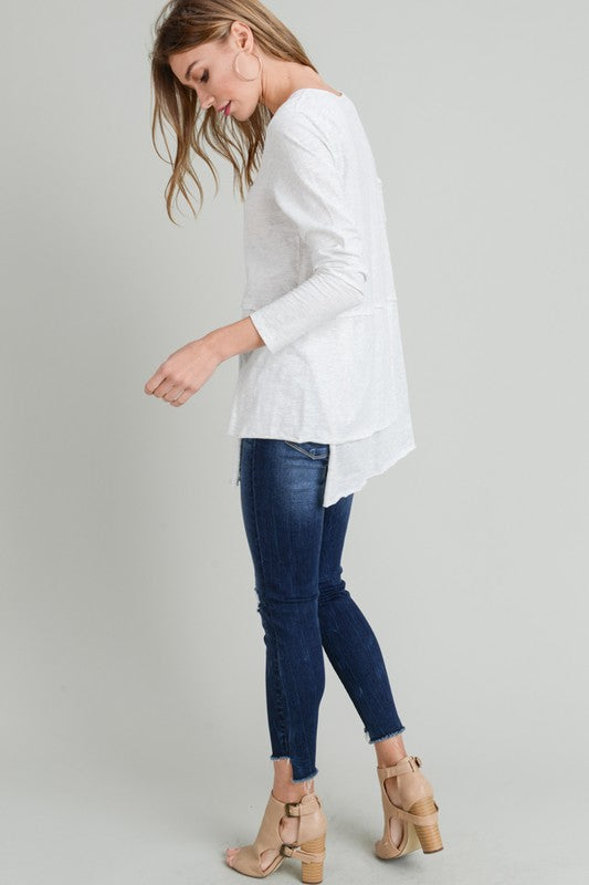 Do You Double Layered Round Neck Long Sleeve Top