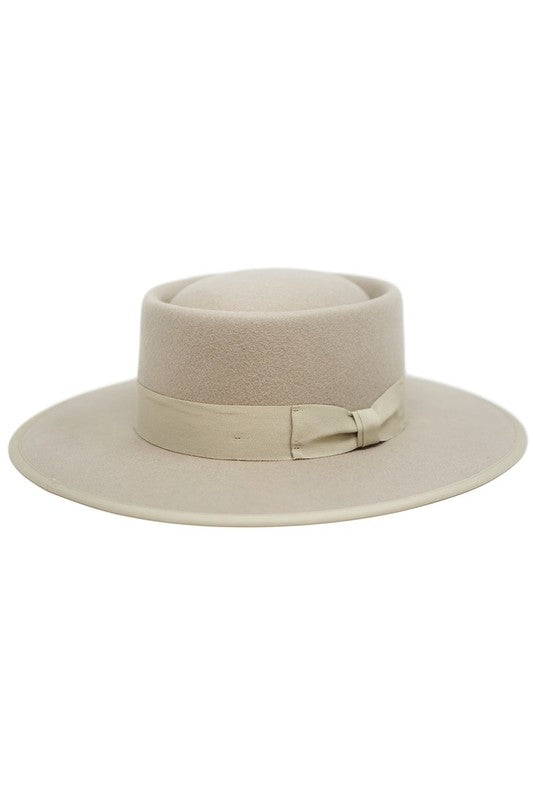 Pink Liberty The Gambler Oatmeal Wool Fedora Hat