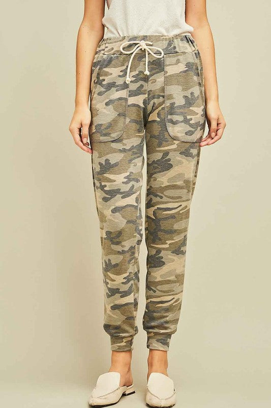 Lightweight Camo Jogger Pants with Drawstring Waist