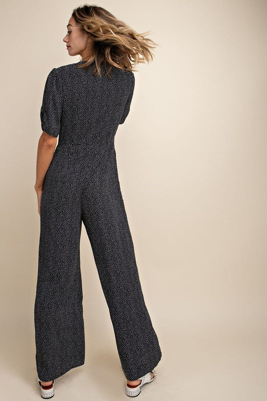 Feeling Dotty Button Down Jumpsuit