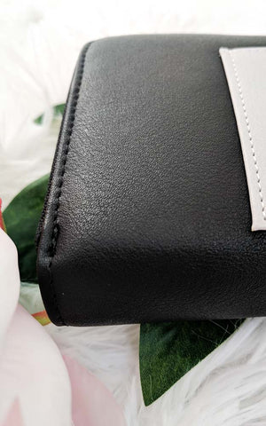 Two-Tone Vegan Leather Wallet