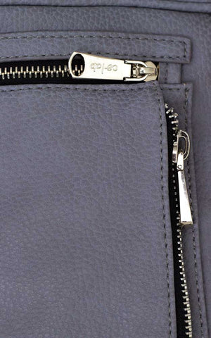 Crossbody Multi-Zip Compartment Bag