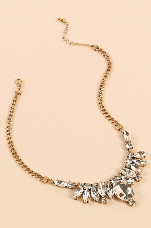 Make It So Crystal Stone Statement Necklace