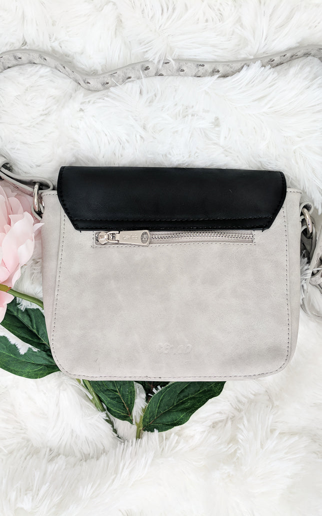 Mimi Vegan Leather Double Flap Crossbody