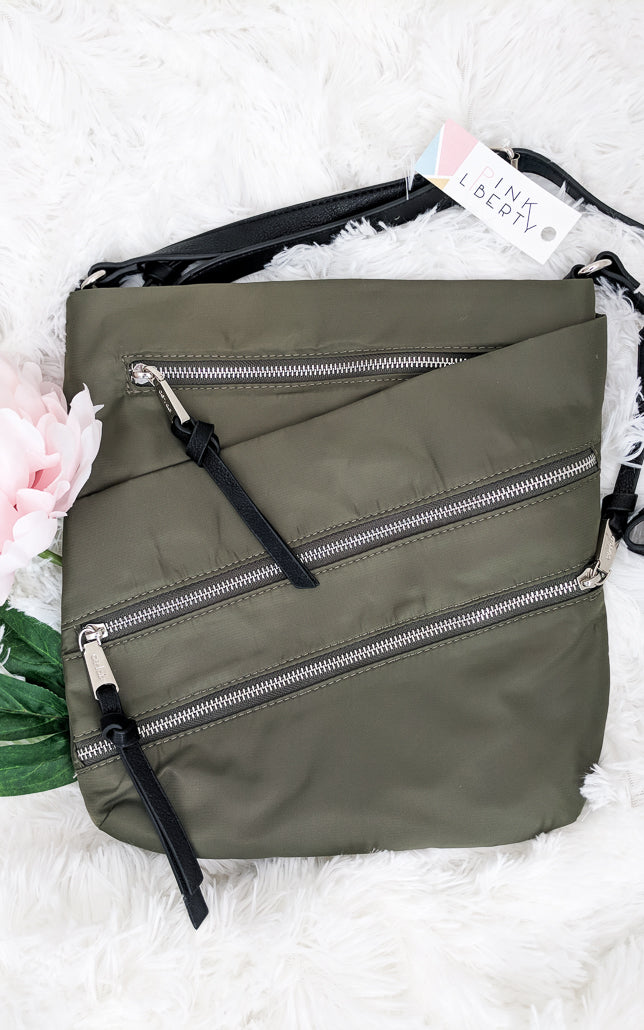 Everyday Nylon Crossbody Bag Olive
