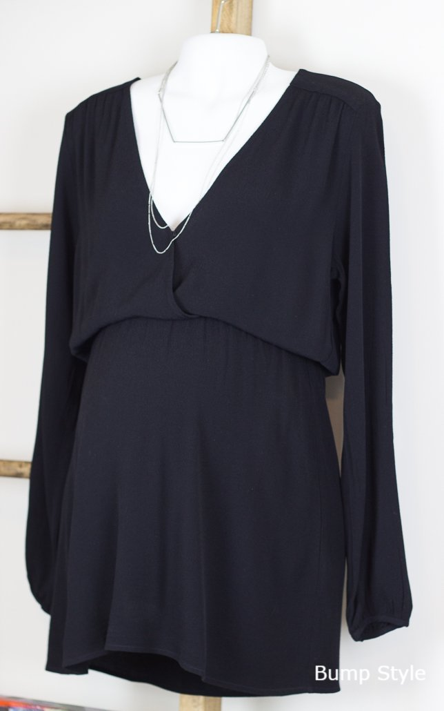 Marlene Part of Me Surplice Crossover Front Tunic Dress