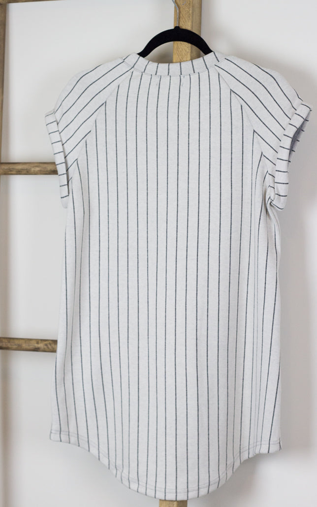 Bree Tomboy Striped Baseball Tunic