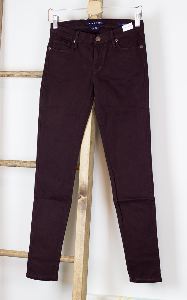Scylla Skinny Denim Jean in Cocoa
