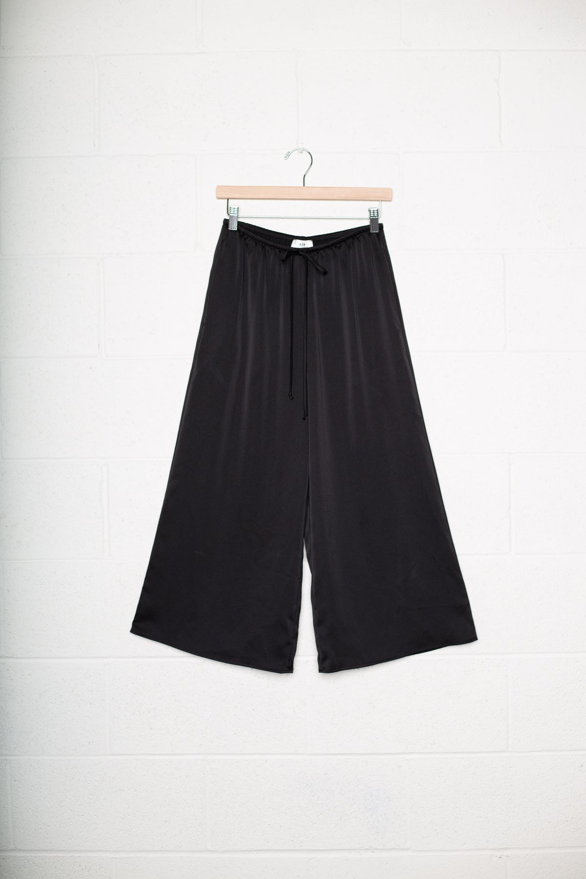 Silver Lining Satin Culotte Pants