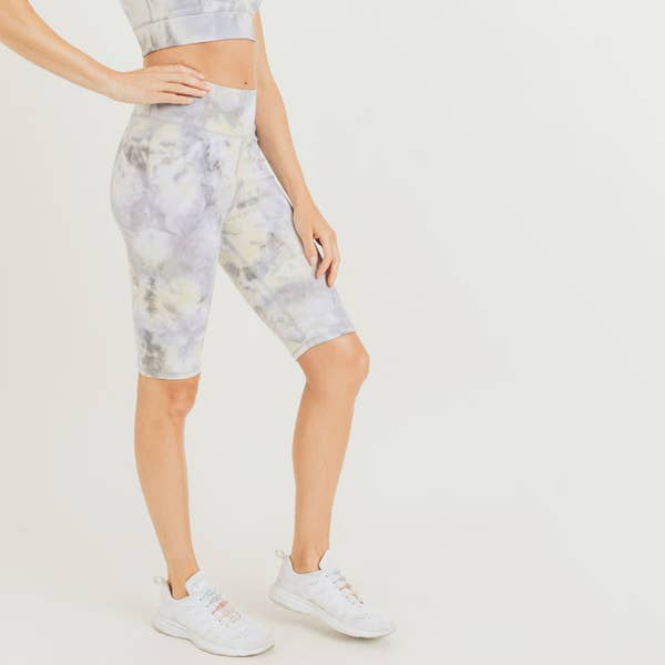 Cotton Cloud Tie-Dye Highwaist Bike Shorts Leggings