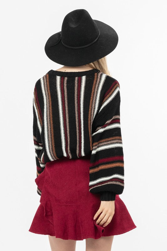 Northern Lights Multi-Colour Striped Sweater