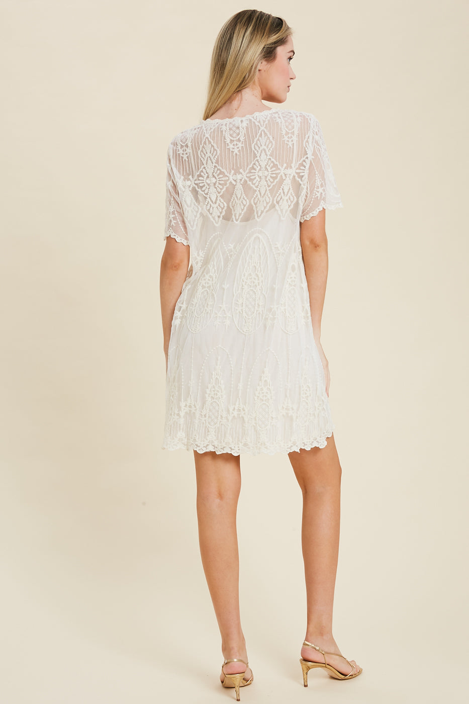 One Wish Embroidered Lace Dress