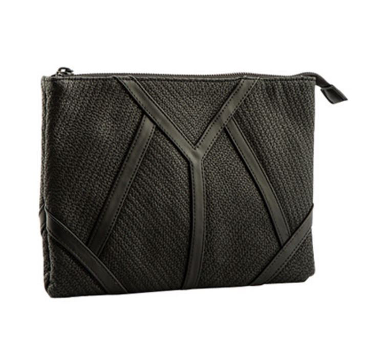 Geo Patchwork Envelope Clutch