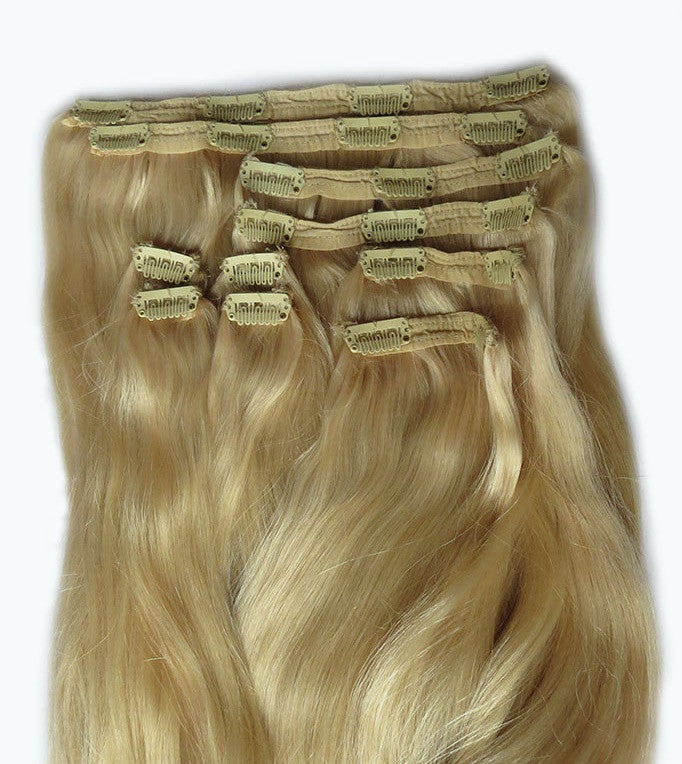 Dirty Blonde Clip-in Hair Extensions 10 pcs set