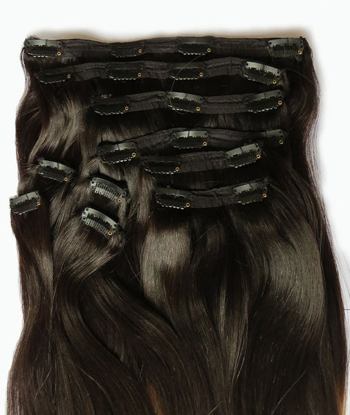 Rich Brown Clip-in Hair Extensions 10 Pcs Set