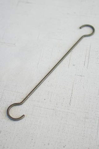Set Of Twelve Long Wire S Hooks Long - Les Spectacles French Industrial