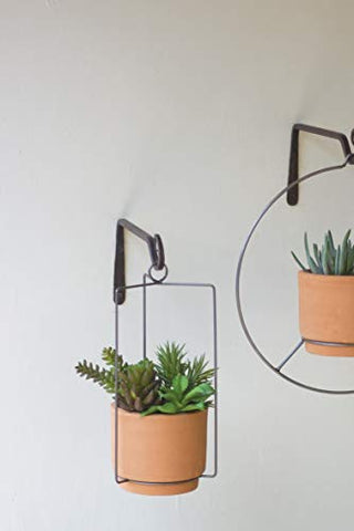 Hanging Natural Clay pot - Les Spectacles French Industrial