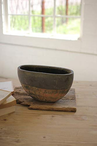 Small Rustic Ceramic Bowl pot - Les Spectacles French Industrial