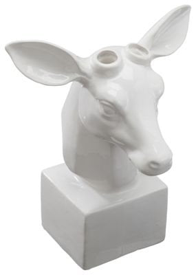 Table Top Ceramic Deer Head - Les Spectacles French Industrial