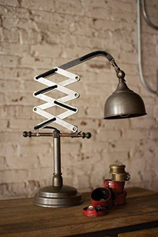 Industrial Scissor Table Lamp - Les Spectacles French Industrial