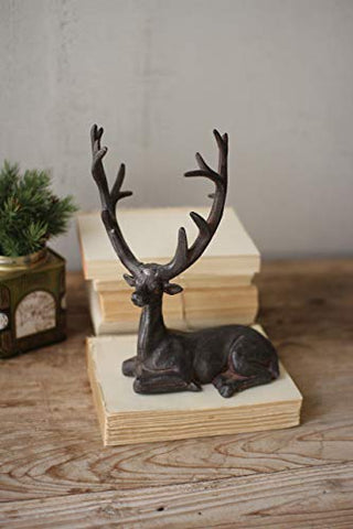 Cast Iron Rustic Sitting Deer - Les Spectacles French Industrial