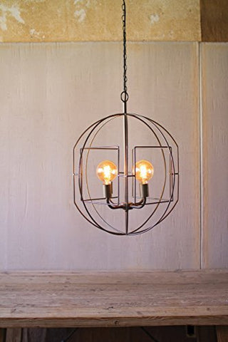 Round Iron Bar Pendant Light - Les Spectacles French Industrial