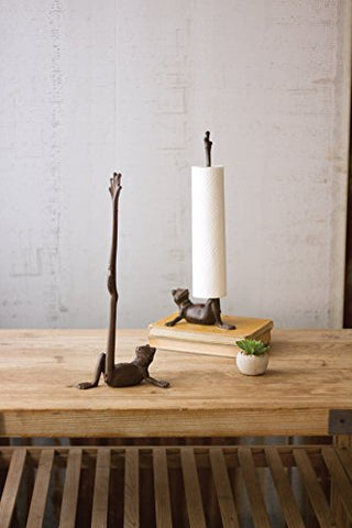 Cast Iron Frog Paper Towel Holder - Les Spectacles French Industrial